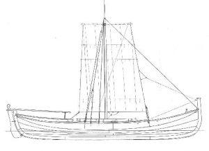 Tegning Åfjordsbåt